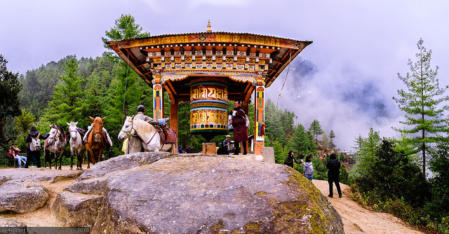 First View of tiger's nest monastery